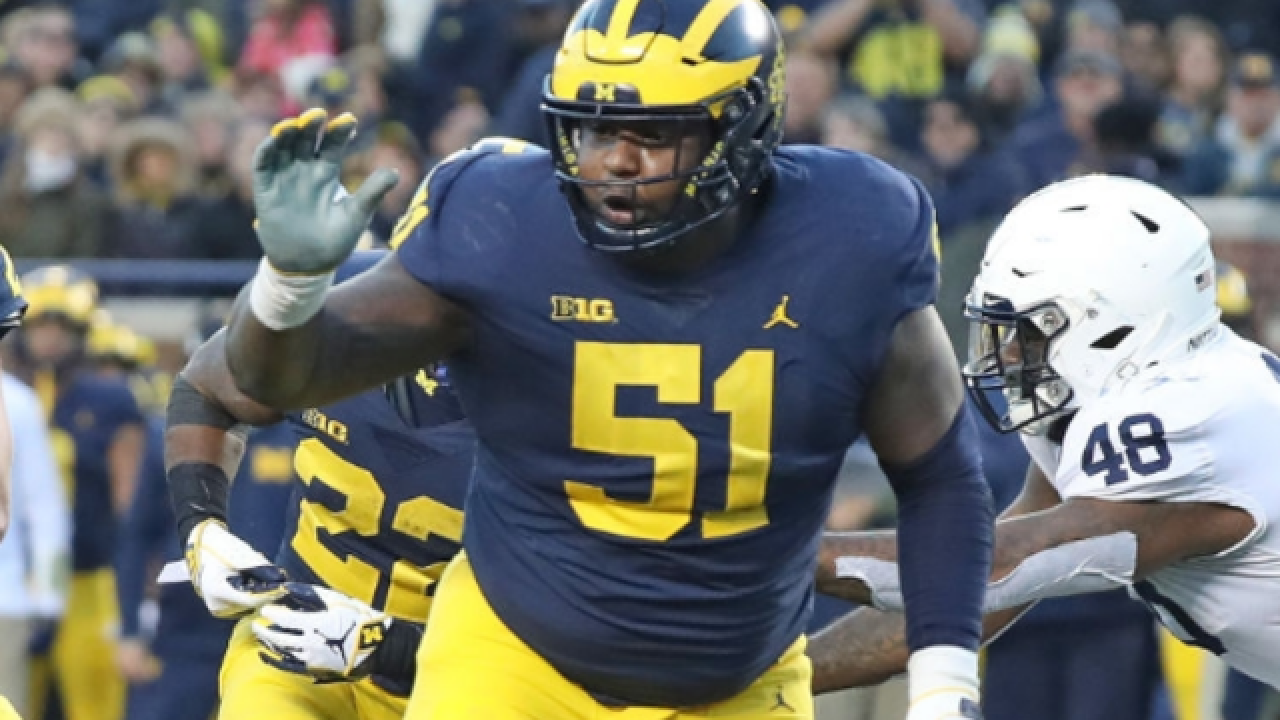 No. 4 Michigan center Cesar Ruiz headed near home at Rutgers