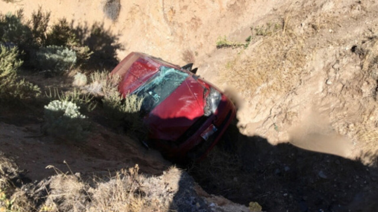 Deputies looking for whoever pushed a car into a ravine near Table Rock