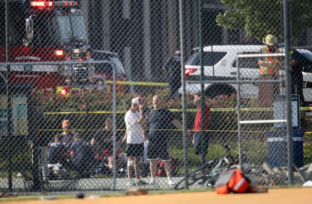 Photos: Shooting at practice for Congressional Baseball Game