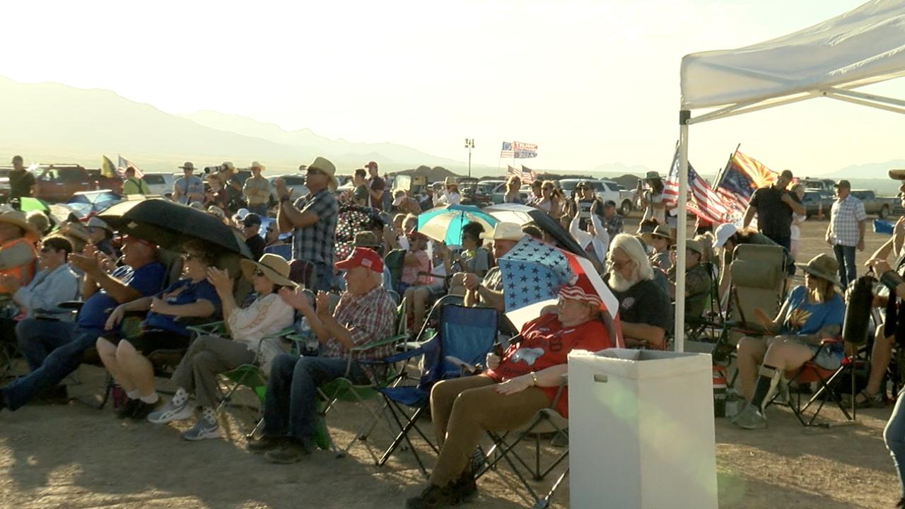 'End the Biden Border Crisis Rally' draws hundreds