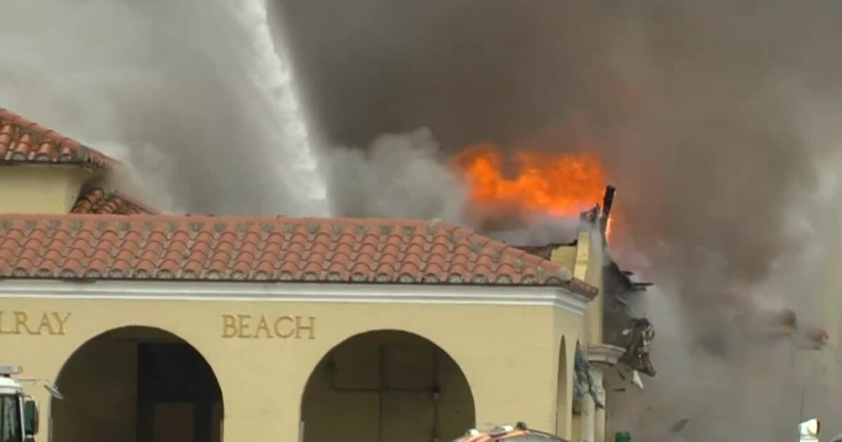 'Kids just set it on fire,' 911 caller says of Florida train station