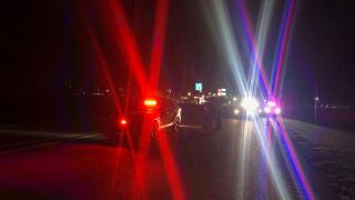 Motorcycle crash sends driver to hospital