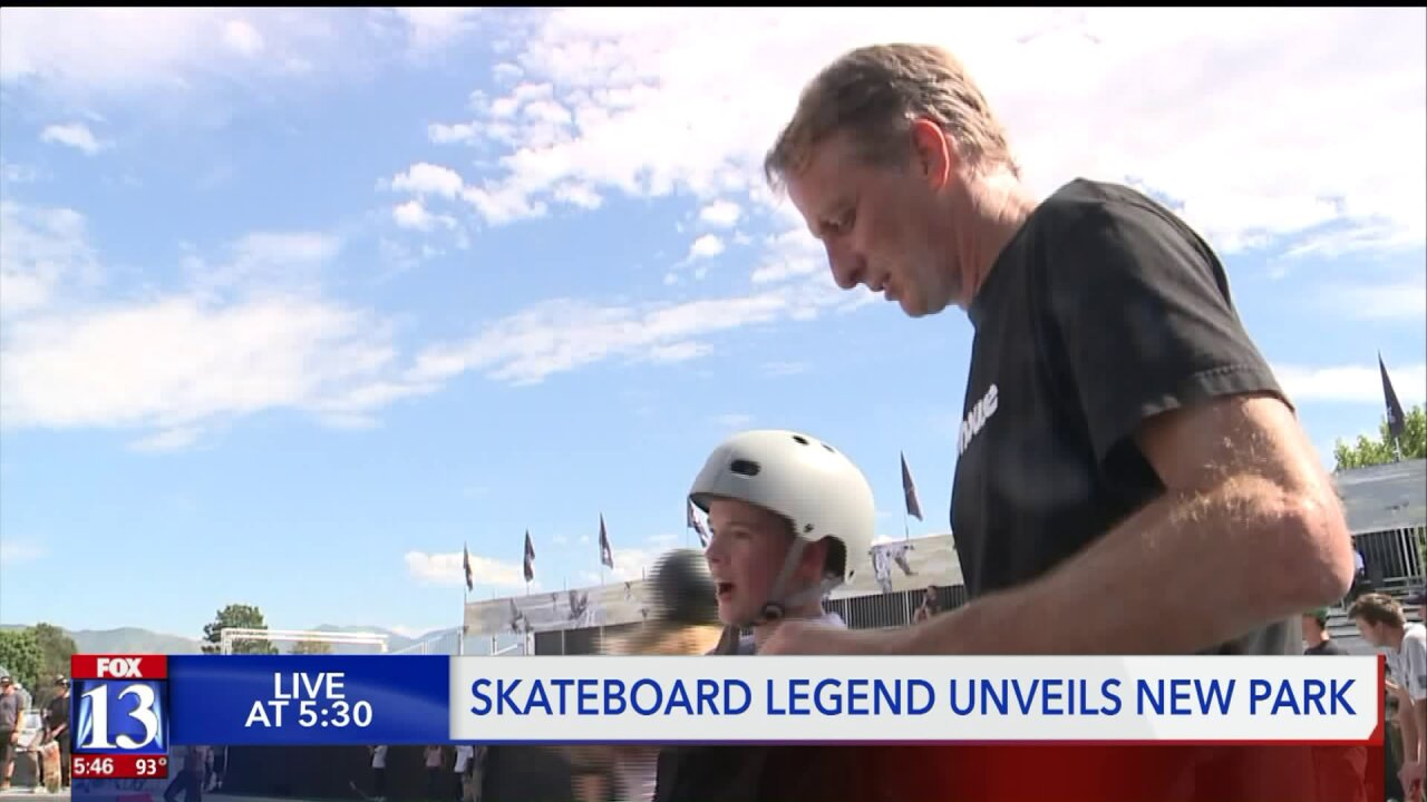 Tony Hawk comes to SLC for new Olympic-style skate park unveiling