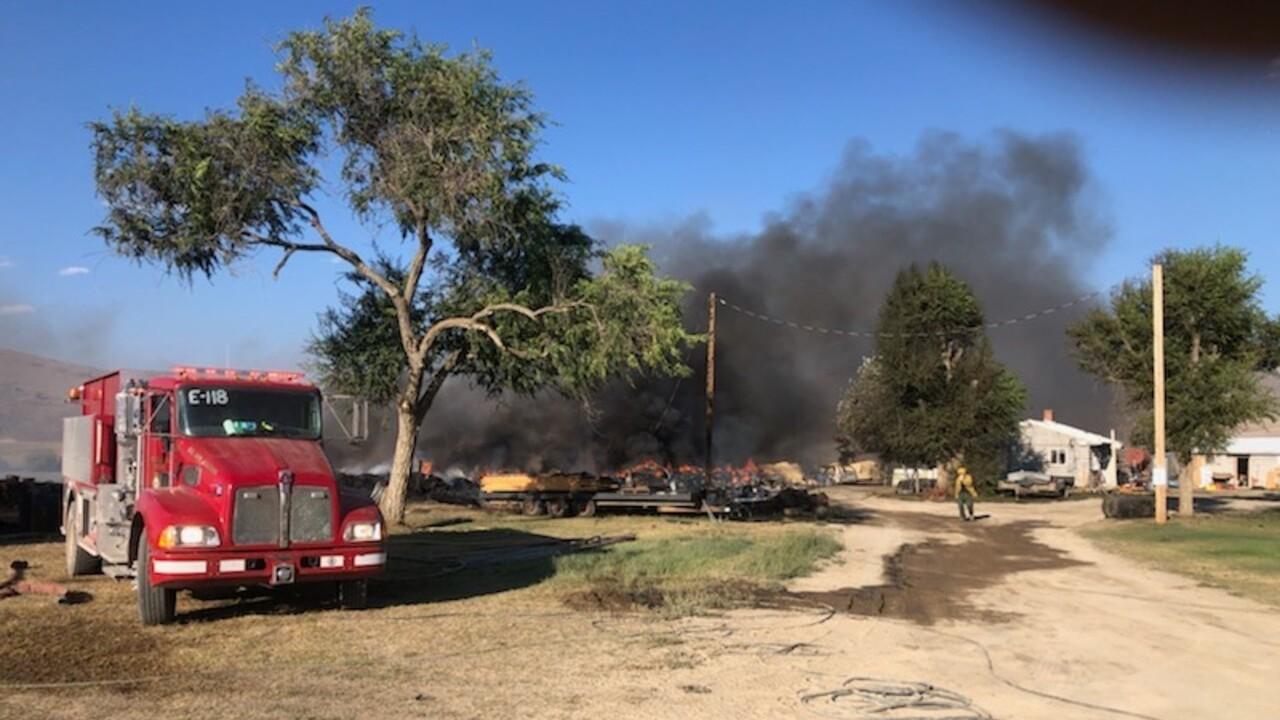 Crews battle fire at Wild Horse Hot Springs