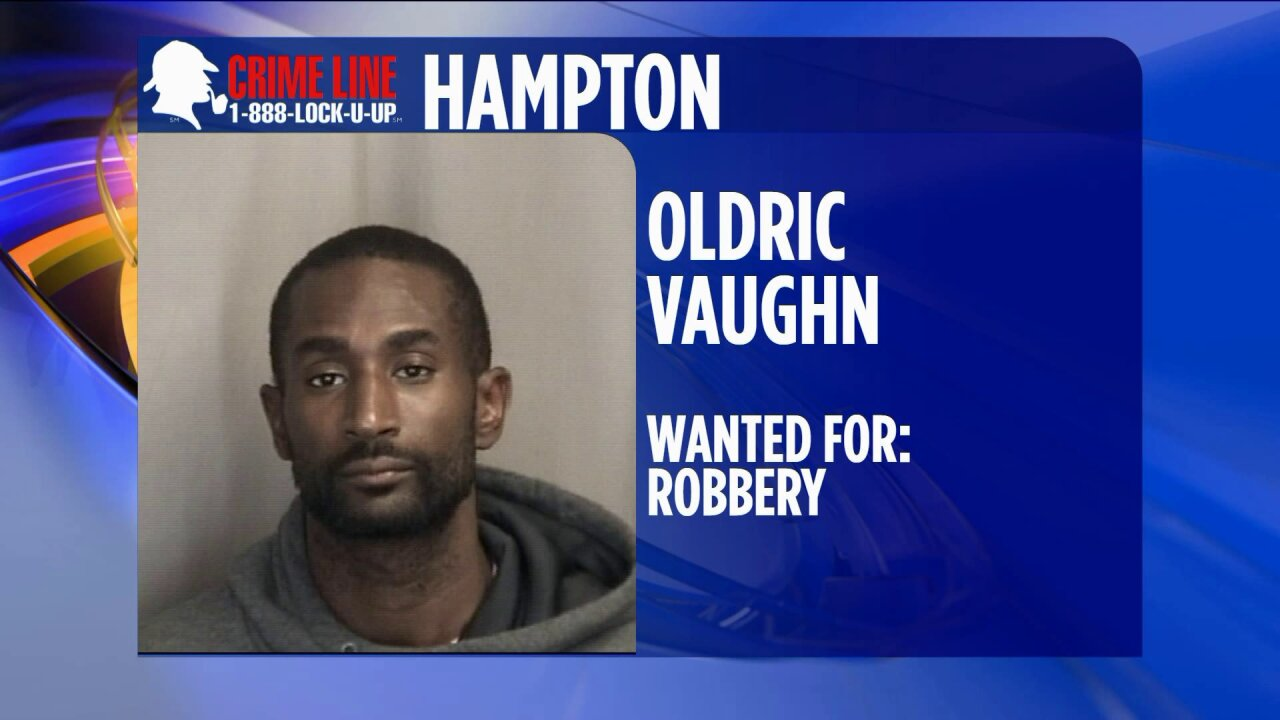 Hampton Police looking for suspect accused of robbing BB&TBank