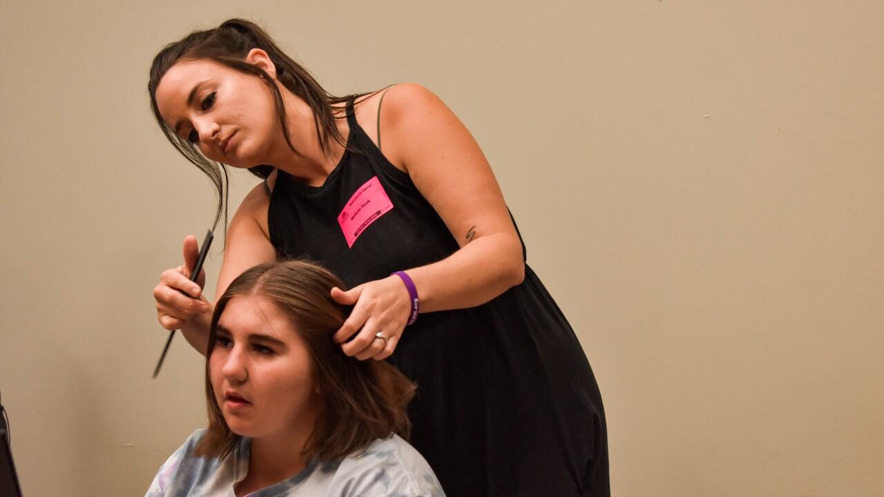 Malorie Hook doing Priscilla's hair.jpg