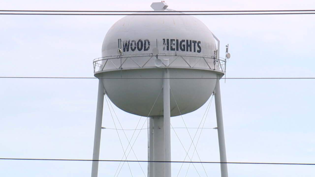 Wood Heights water tower