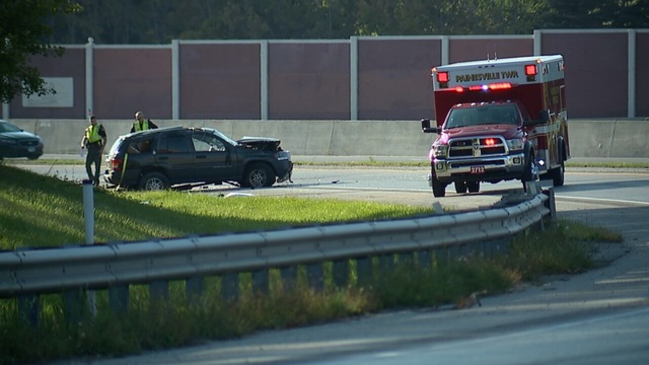 One person dead in crash on ramp from State Route 2 to State