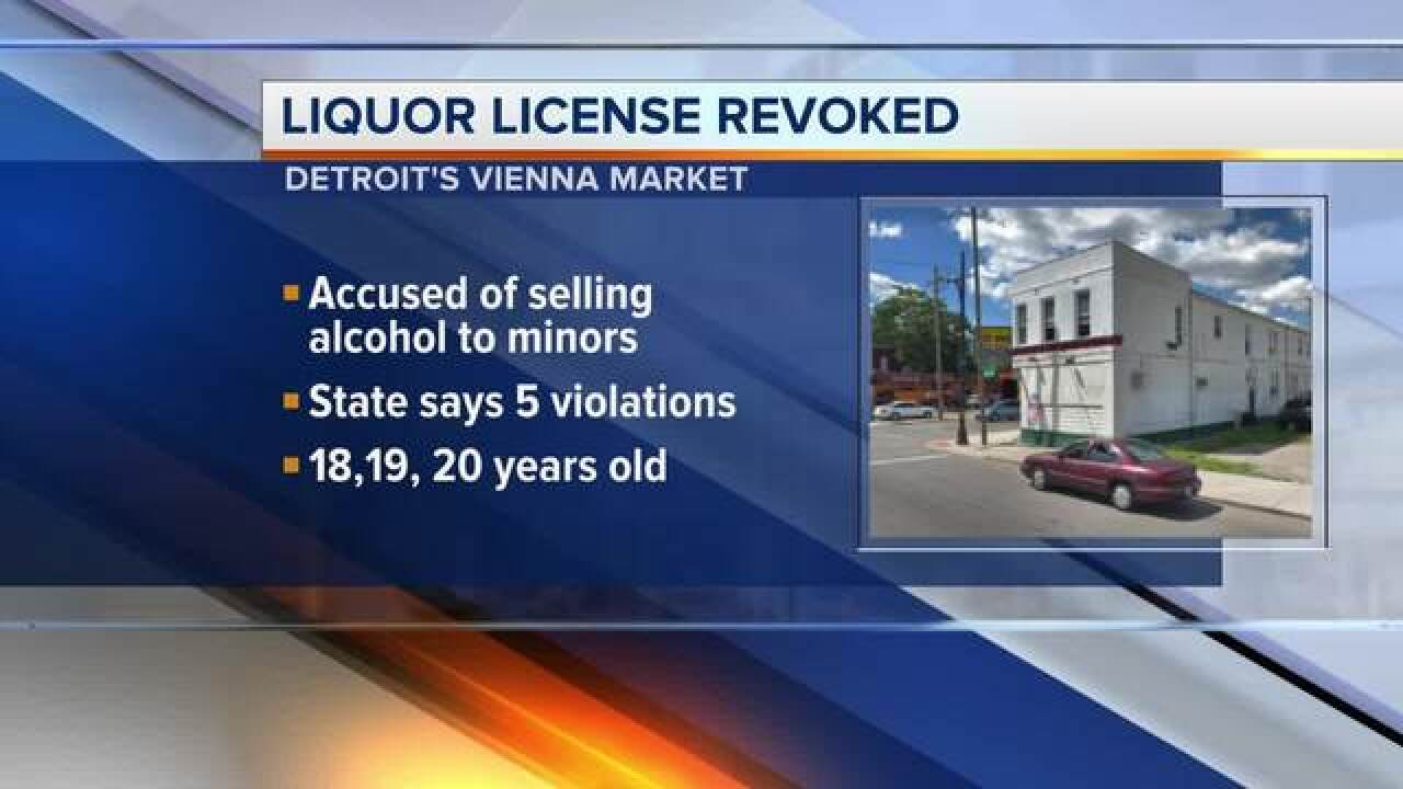 Liquor store in Southwest Detroit accused of selling alcohol to minors