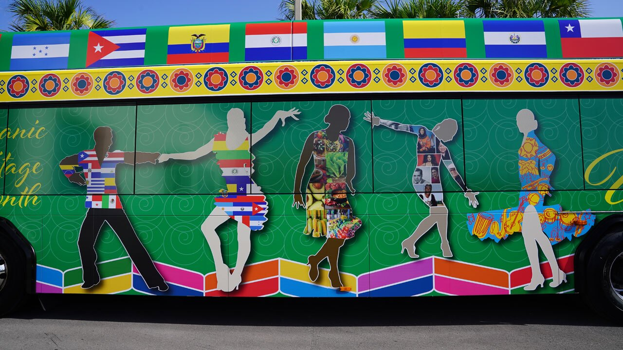 Hispanic Heritage Month Palm Tran Bus