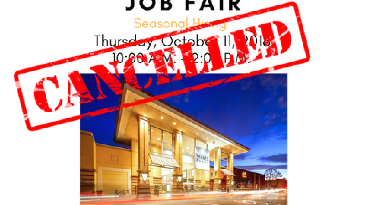 JOBS: Valley Plaza Job Fair set for Thursday