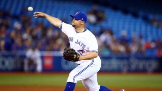 Zack_Godley_Atlanta Braves v Toronto Blue Jays