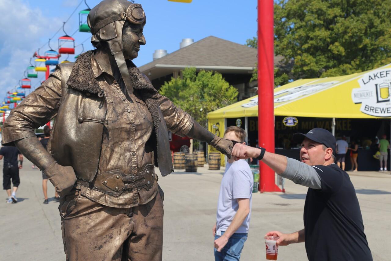 The Bronze Amelia Earhart