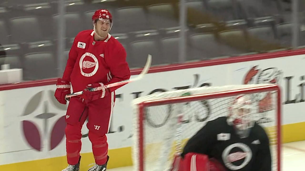 Anthony Mantha Red Wings practice