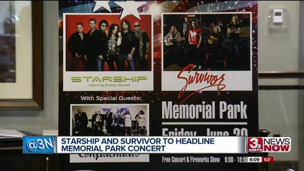 Lineup change for Friday's Memorial Park Concert