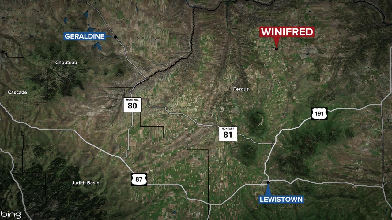 Winifred Montana map