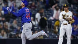 Cubs Padres Baseball anthony rizzo manny machado