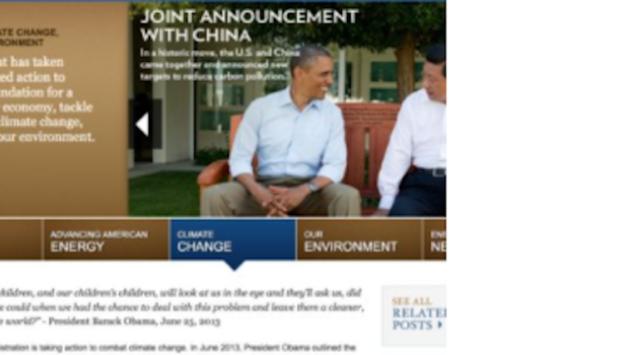 Climate change, LGBT, veterans sections removed from White House website
