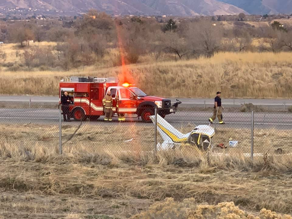Photos: Two injured in Roy planecrash