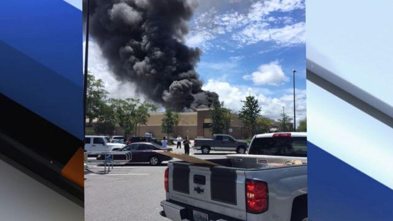 4-alarm fire at Largo Walmart, firefighters hurt