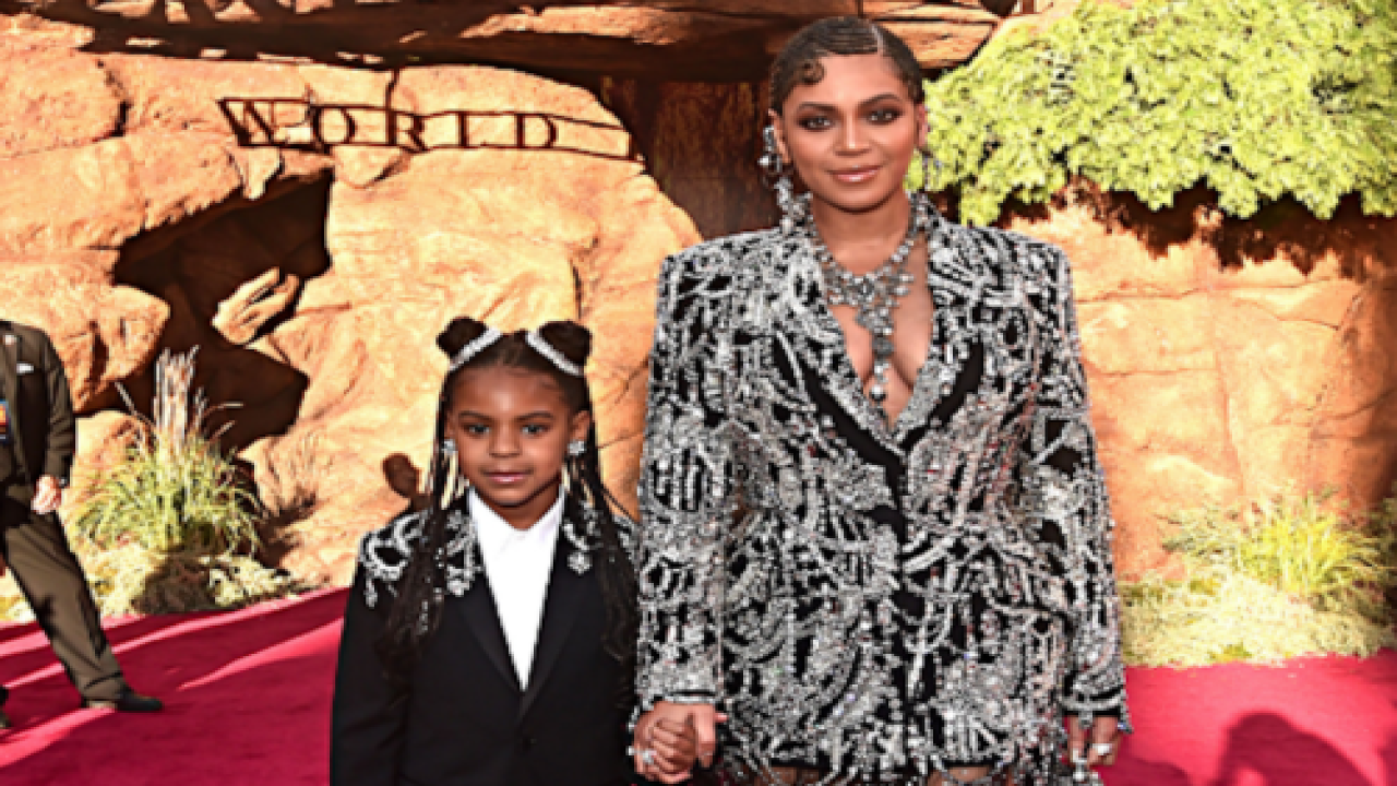 Beyoncé And Blue Ivy Walked The Red Carpet Together At 'The Lion King' Premiere