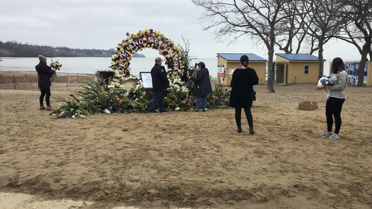 Flower display at Edgewater Park.