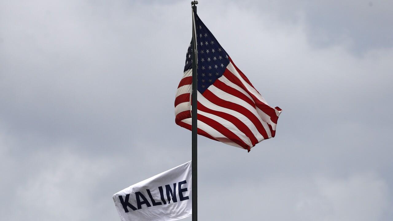 Al Kaline Flag Comerica Park Royals Tigers Baseball