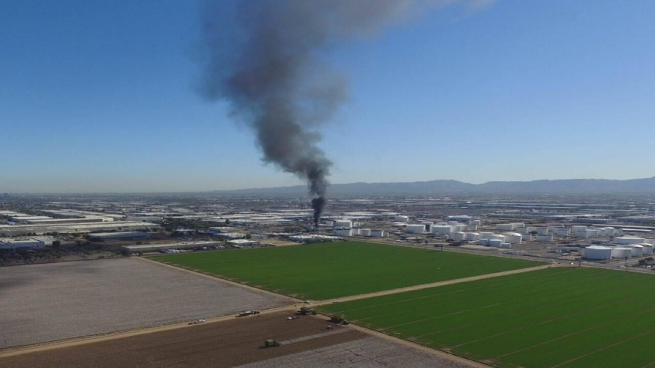 LIVE: HAZMAT fire burning in west Phoenix