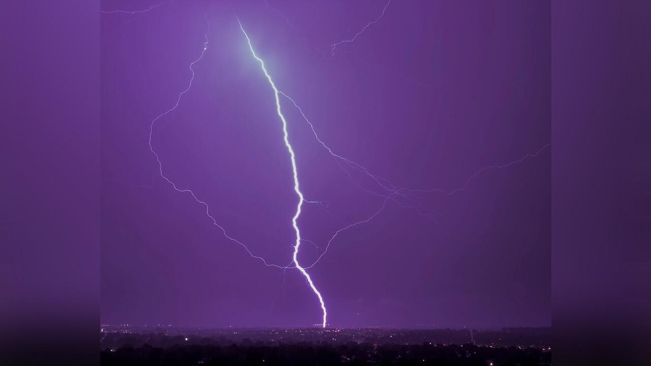 Lightning above Colorado Springs