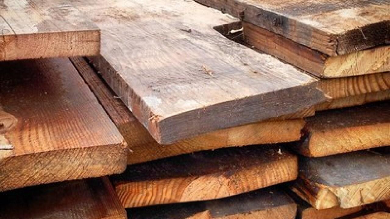 Salvaged wood from Hazel Park Raceway