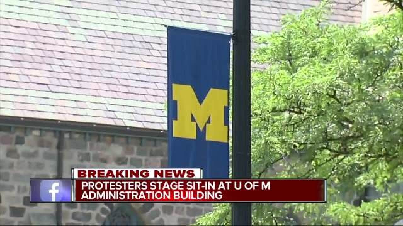 UM lecturers, students protest in Ann Arbor