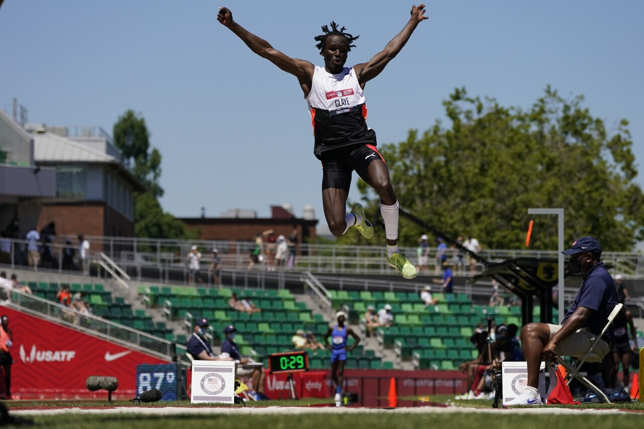 Will Claye at U.S. Olympic long jump qualifying round, June 25, 2021