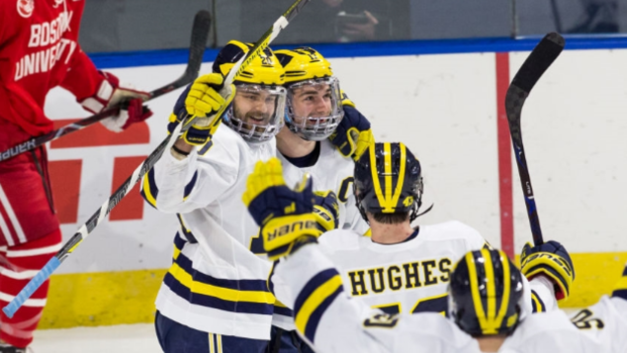 Big Ten has big presence this year, with three teams at Frozen Four