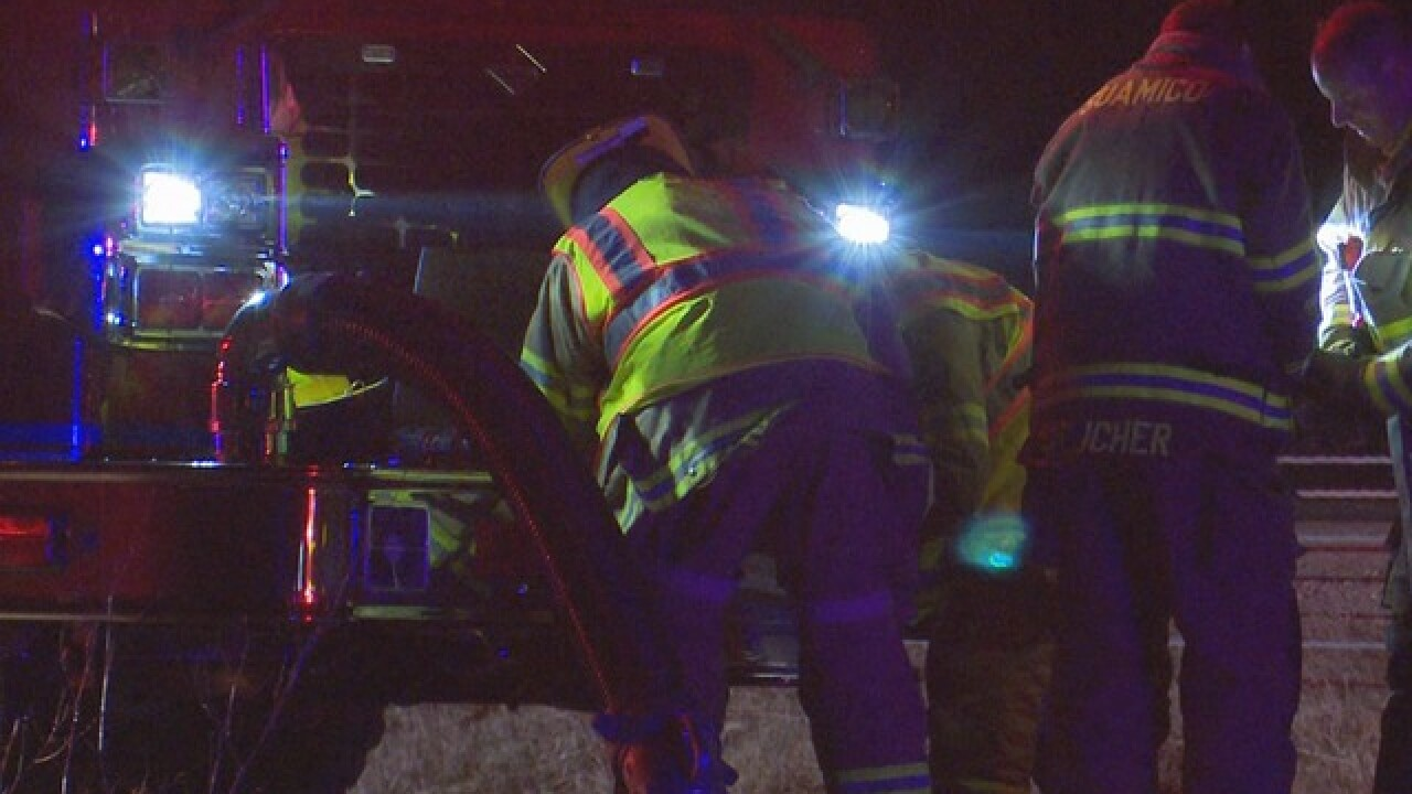 Man injured in fiery crash in Suamico