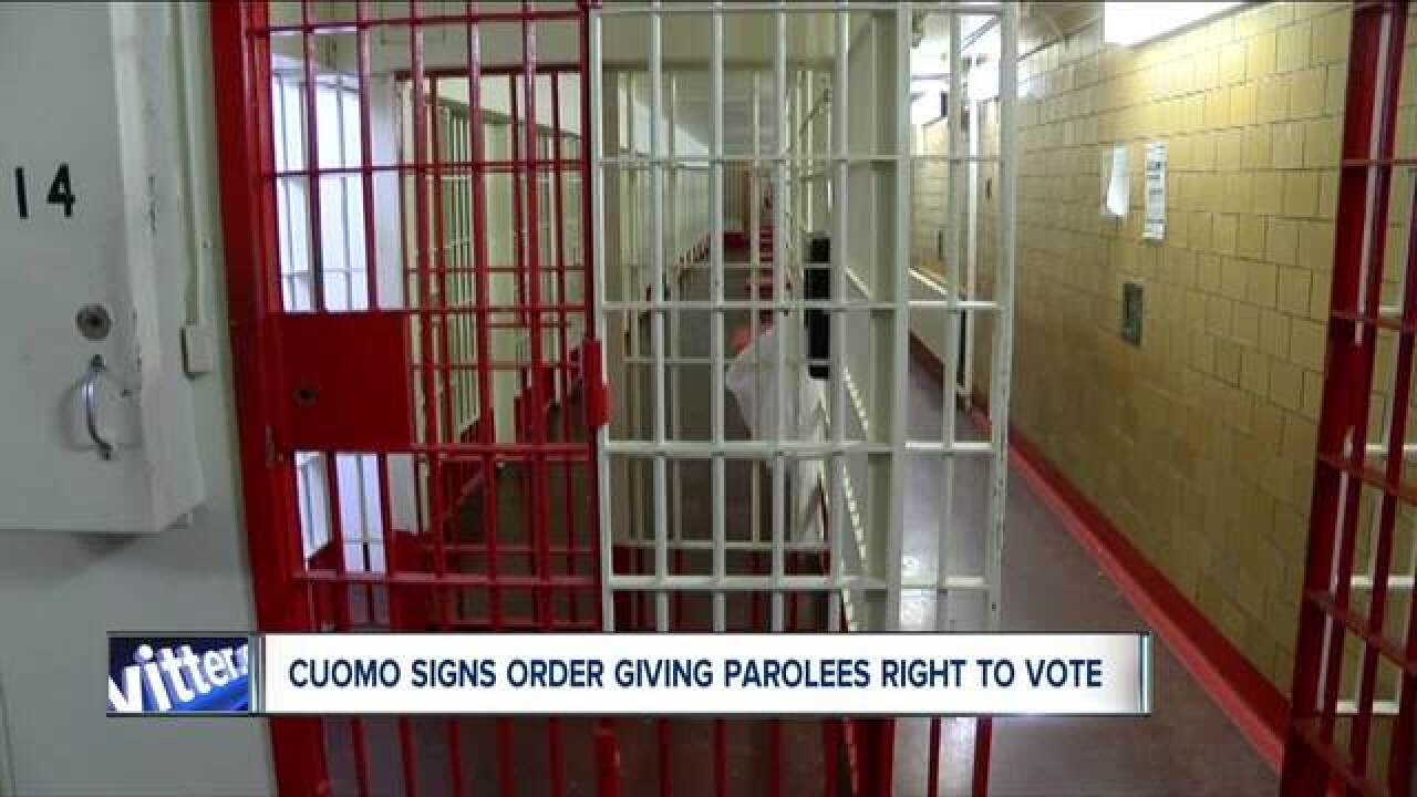 Gov. Cuomo gives New York parolees right to vote
