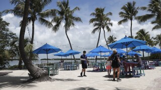 Morada Bay Beach Cafe in Islamorada, June 1, 2020