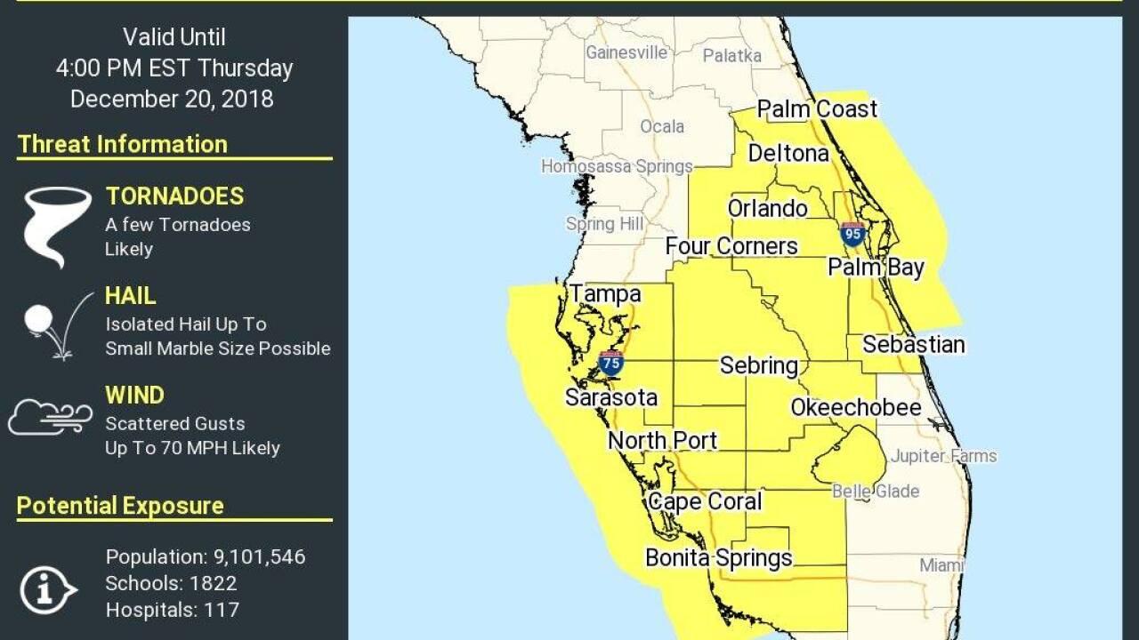 Florida Tornado Map.Updates Parts Of Southwest Florida Under A Severe Thunderstorm