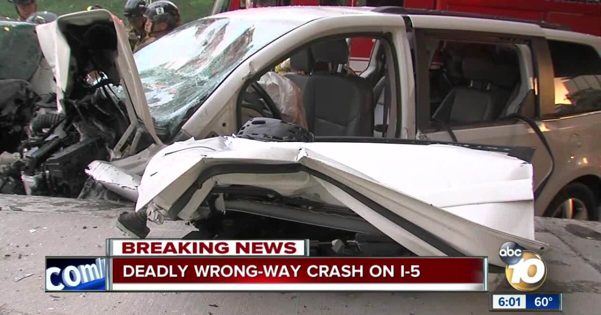At least one dead in wrong-way crash on I-5