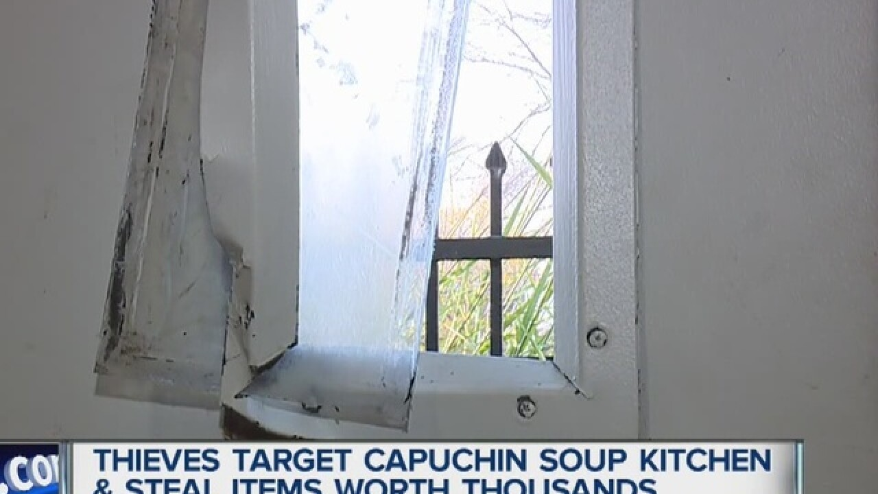 Equipment stolen from Capuchin Soup Kitchen