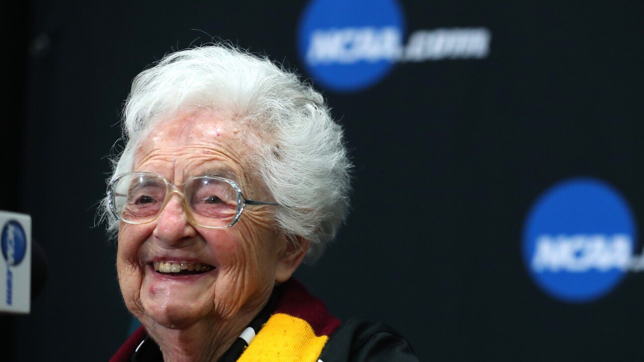 LEGO helps Sister Jean celebrate her 100th birthday with look-alike statue