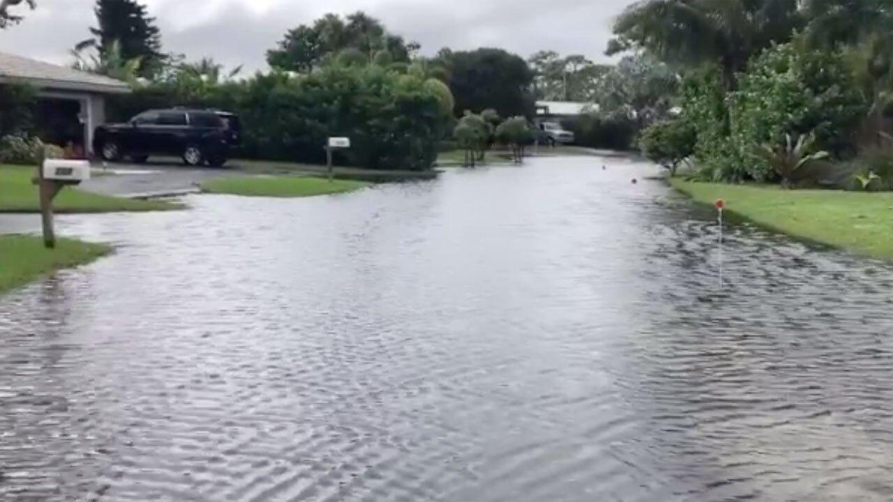 Flooding in the Chapel Hill neighborhood of Boynton Beach