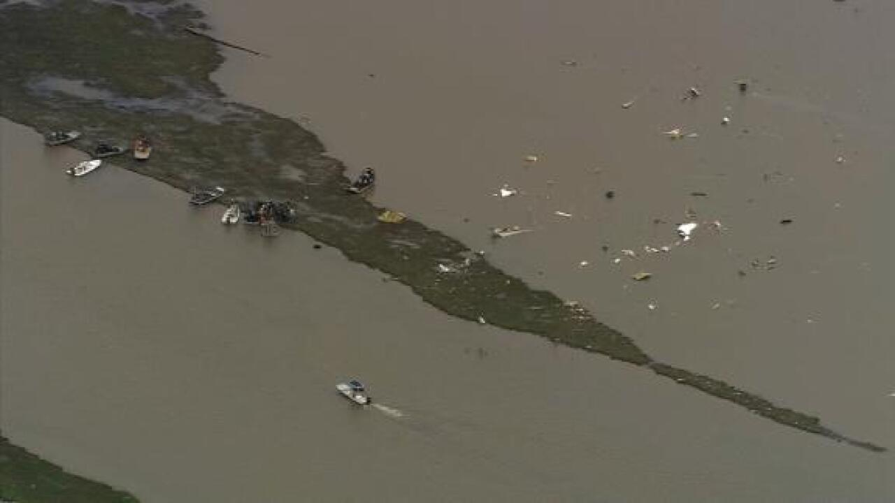 Body recovered after a cargo plane crashes in water near Houston