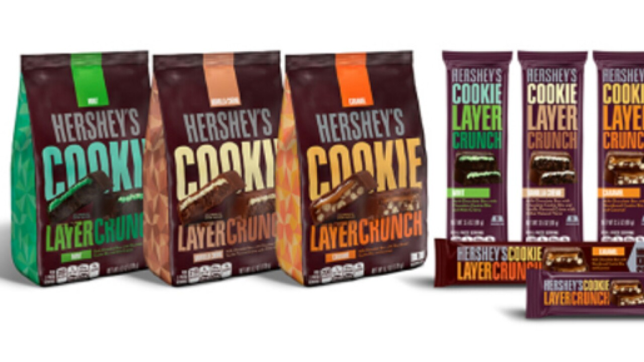 Hershey's debuts new Cookie Layer Crunch Bars