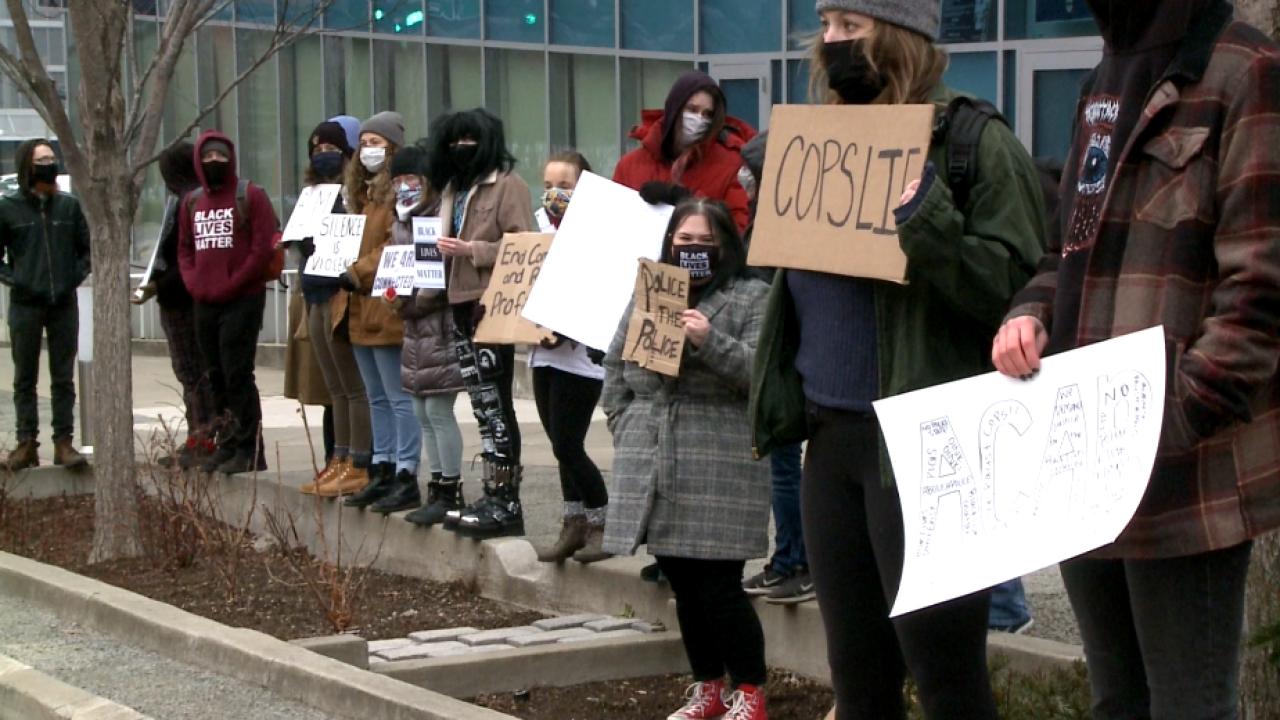 Protesters demand justice for Markquett Martin
