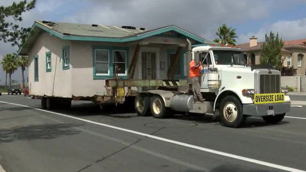 Historic home being relocated to San Ysidro