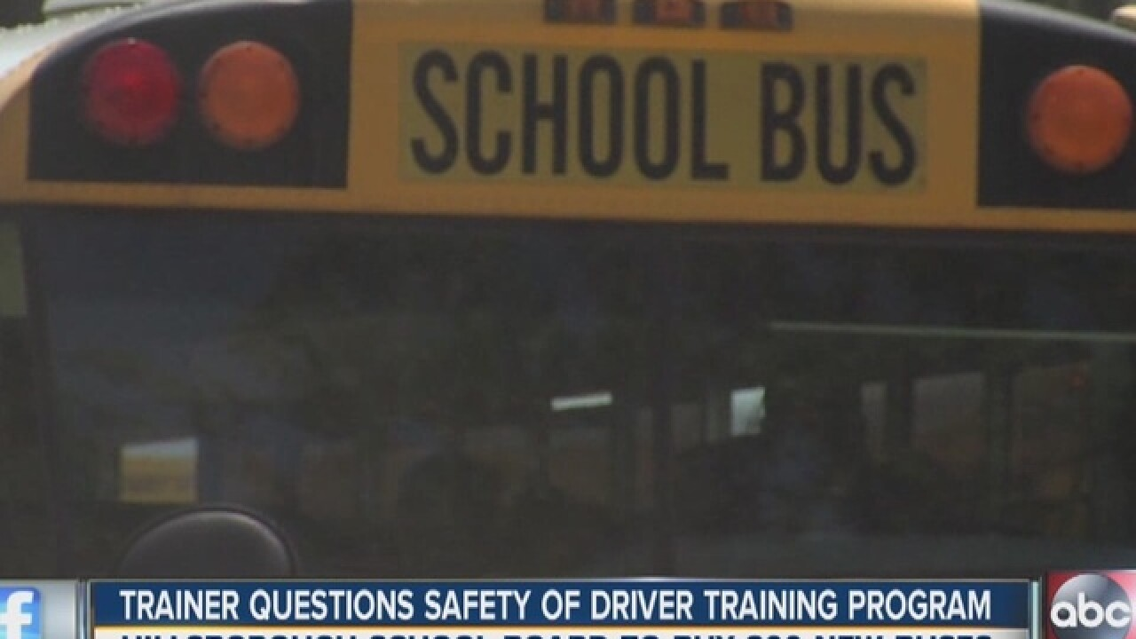 Quality of school bus drivers alarms trainer