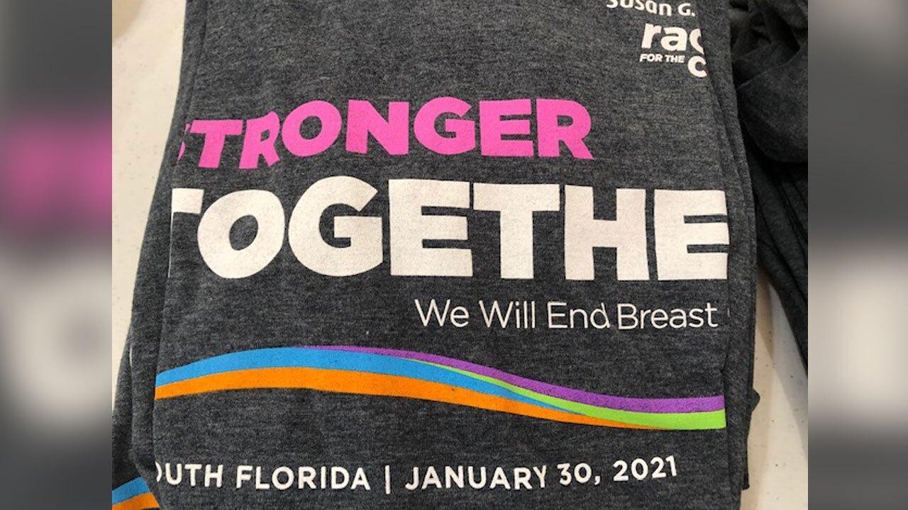 Susan G. Komen Race for the Cure 2021 shirt