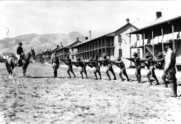 Buffalo Soldiers training at Fort Huachuca