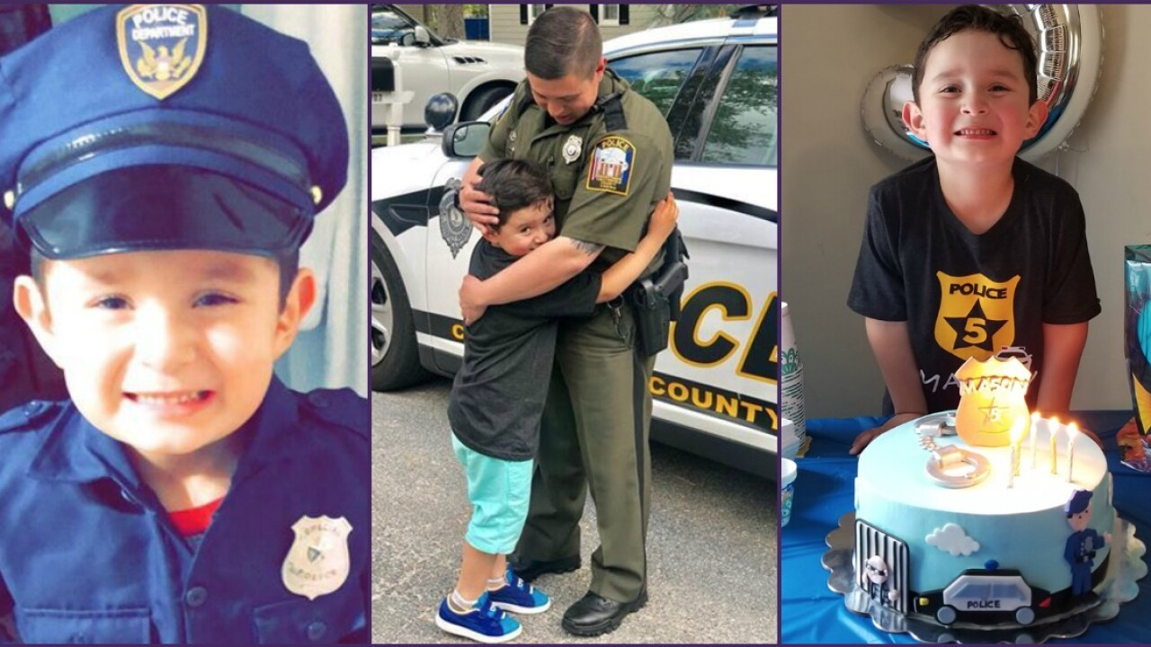 👮🏽Boy who loves police officers gets awesome birthday surprise