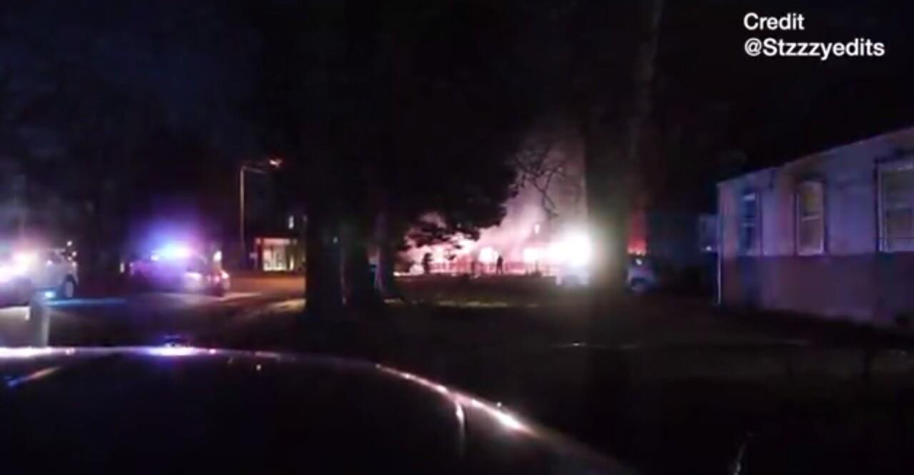 Strathmore Road State Police cruiser fire.jpg